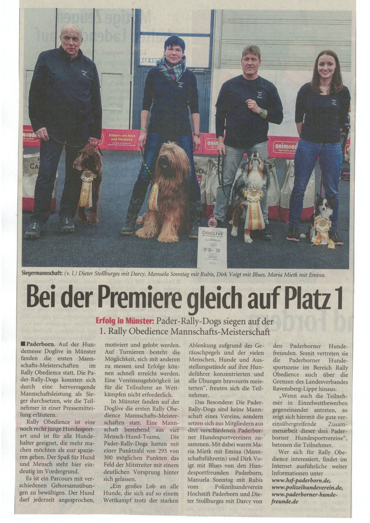 Pader-Rally-Dogs ROMM Münster - NW 22.01.16